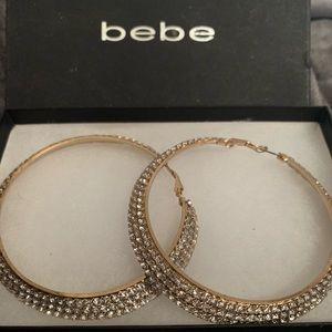 Brand new Bebe hoop earrings